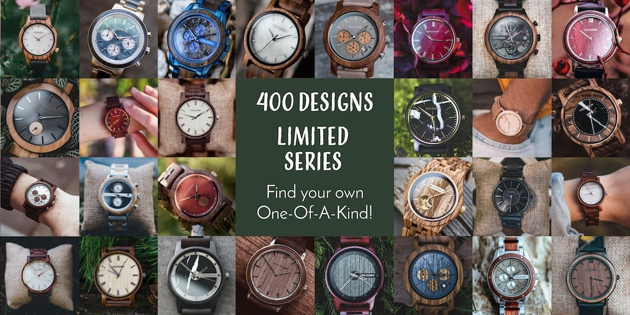 More than 400 unique Holzkern Designs