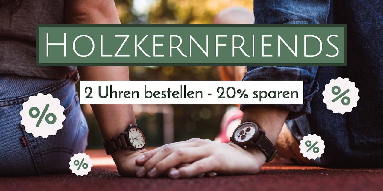 2 Holzkernuhren bestellen - 20% sparen