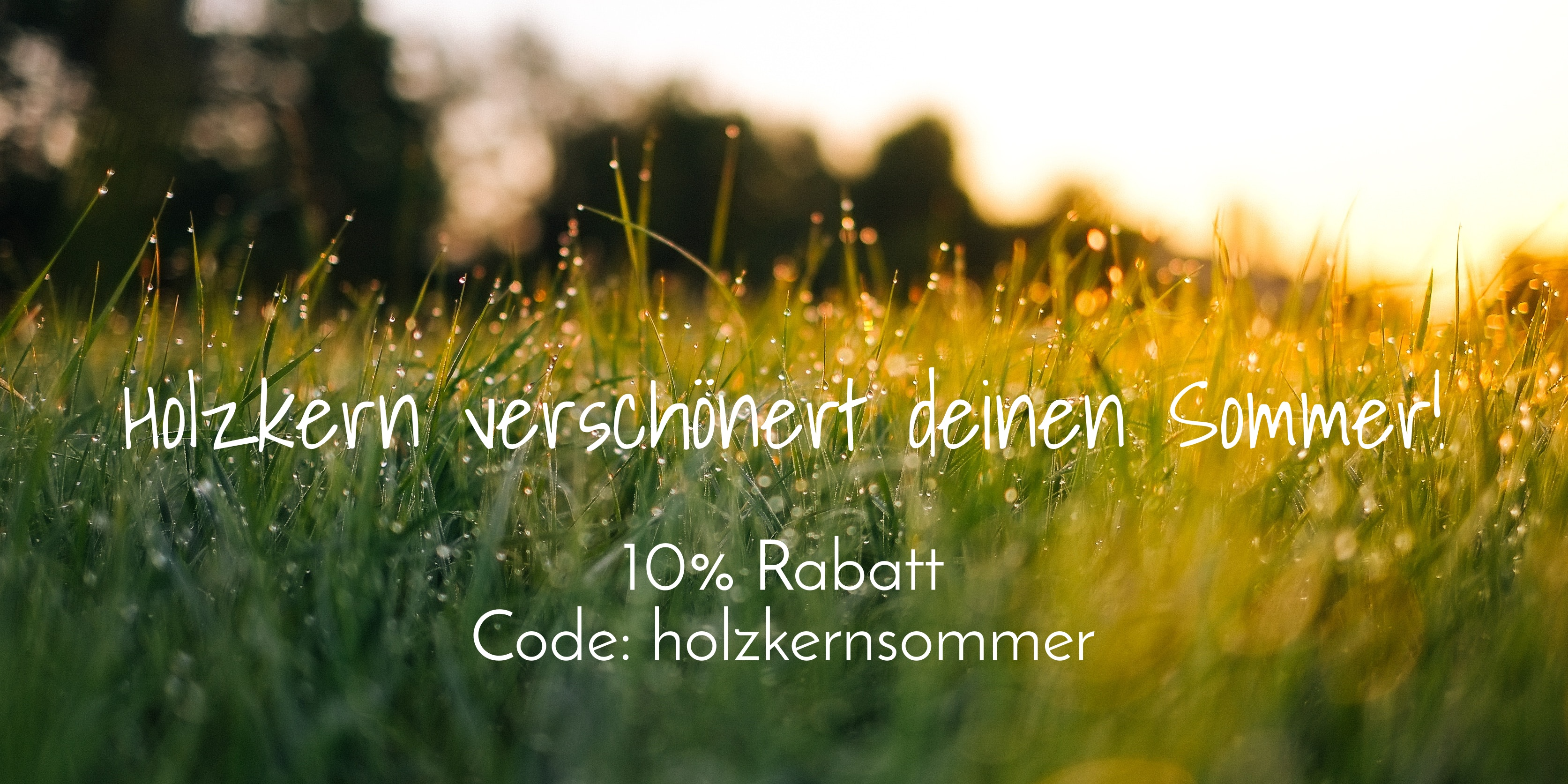 Holzkern Sommer - 10% Rabatt für dich!