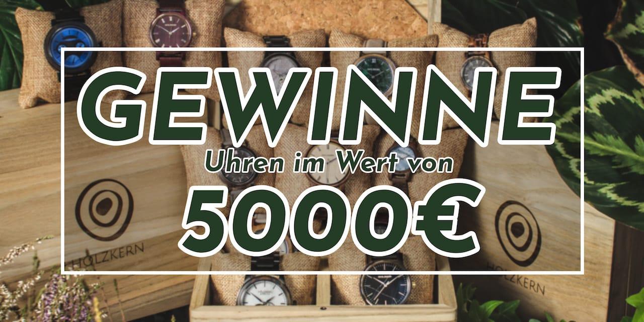 Gewinne das größte Holzkern Uhren Paket aller Zeiten!