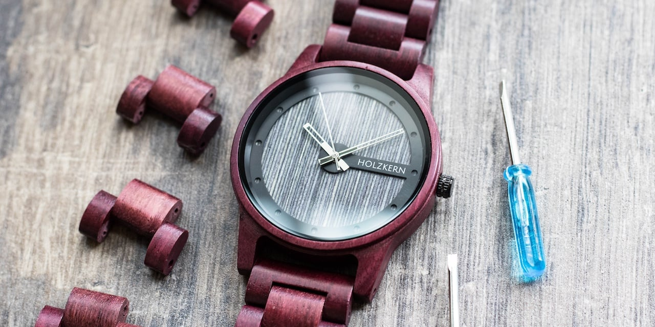 Watches made of Wood and Stone with extra equipment
