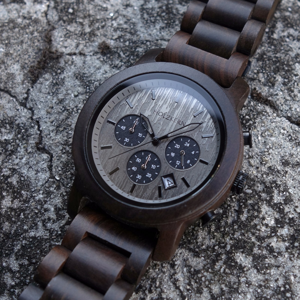Northwall is a wooden chronograph for men