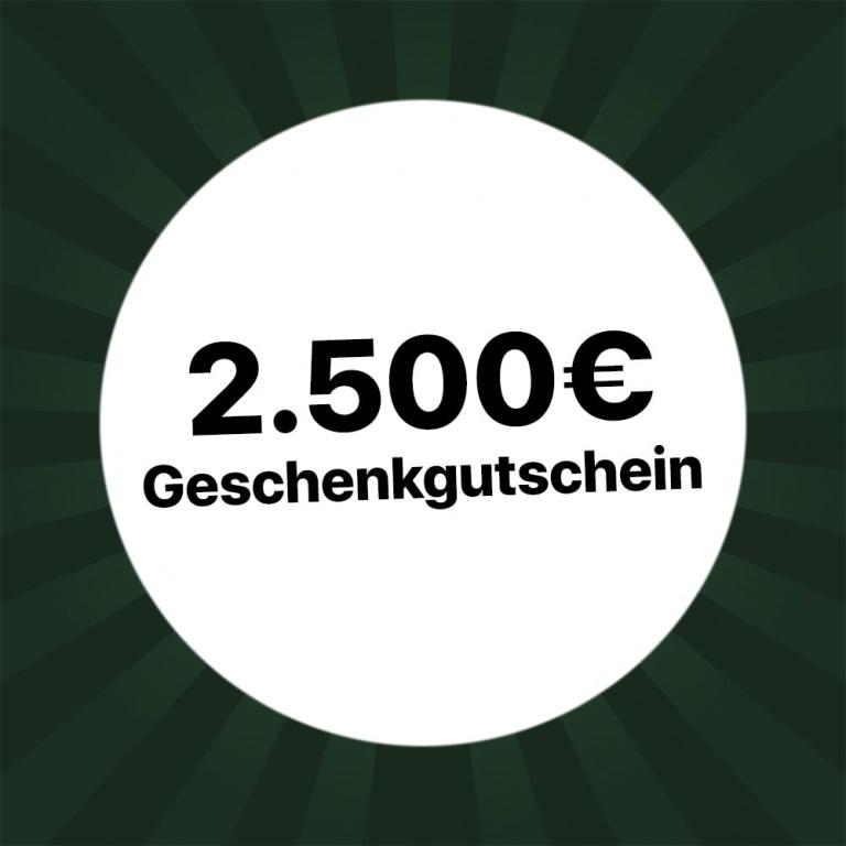 2500 € Gutschein