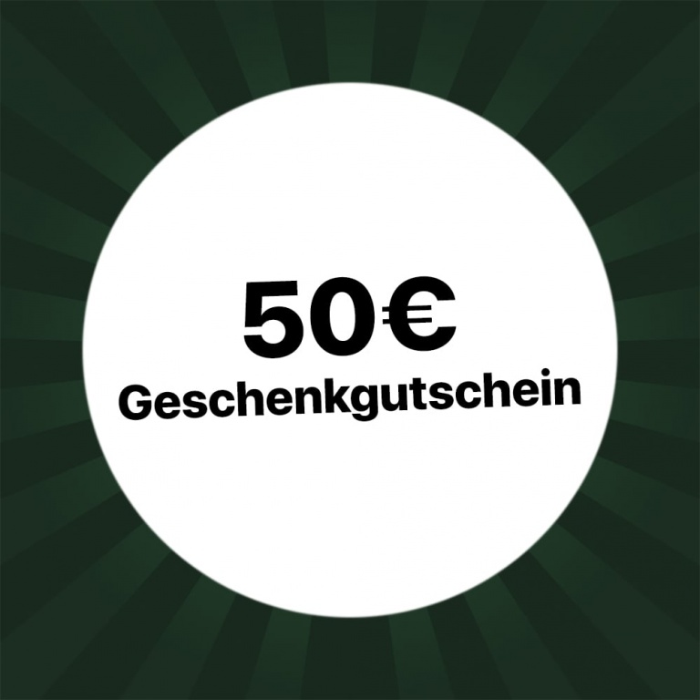 50€ Holzkern Geschenkgutschein