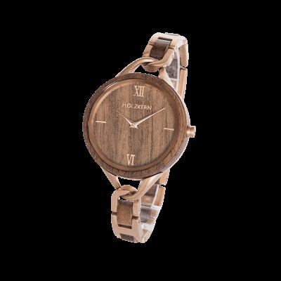 Holzkern's wood watch Silk Fiber on white background