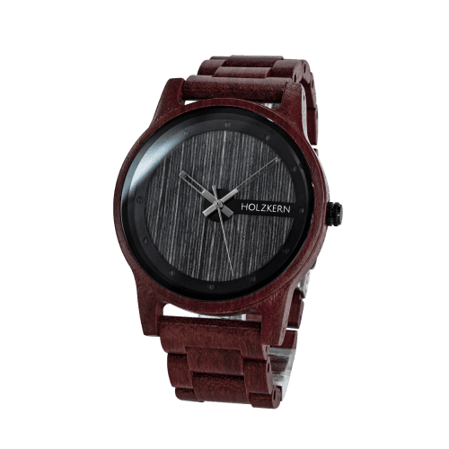 Wood watch Matterhorn with a grey dial, which is a compound made of leadwood and sandalwood