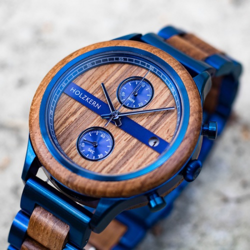 Wood meets the trent color blue
