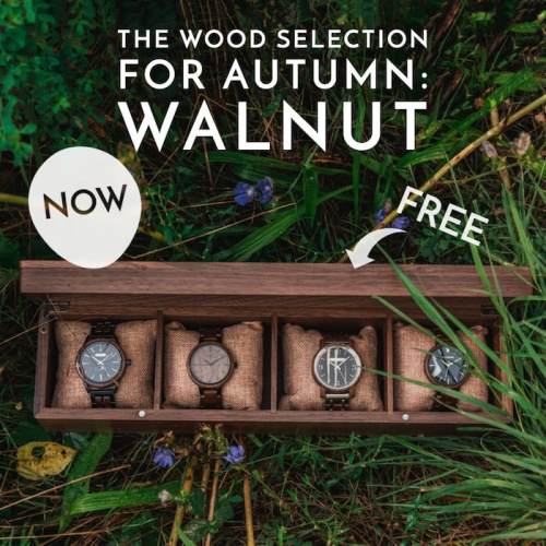 The wood selection for autumn: Walnut