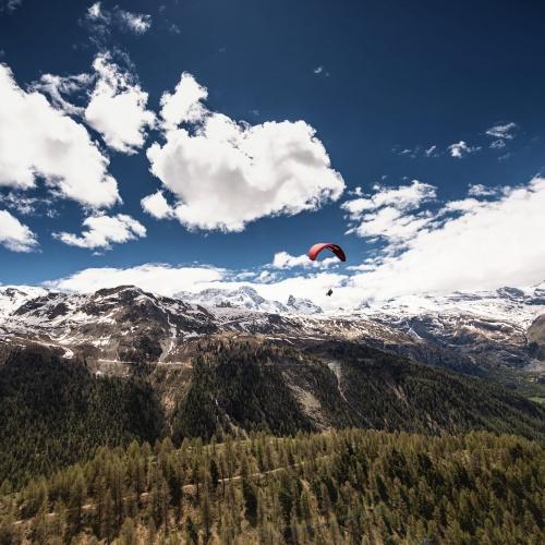 Parapendio in Zermatt