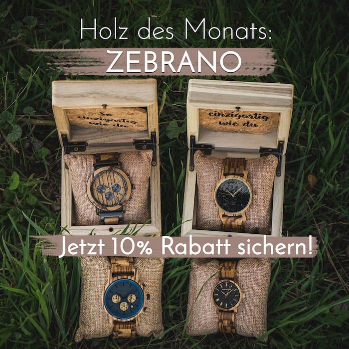Holz des Monats: Zebrano
