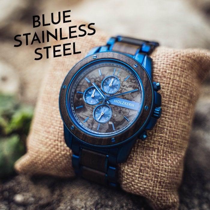 Wood meets blue steel