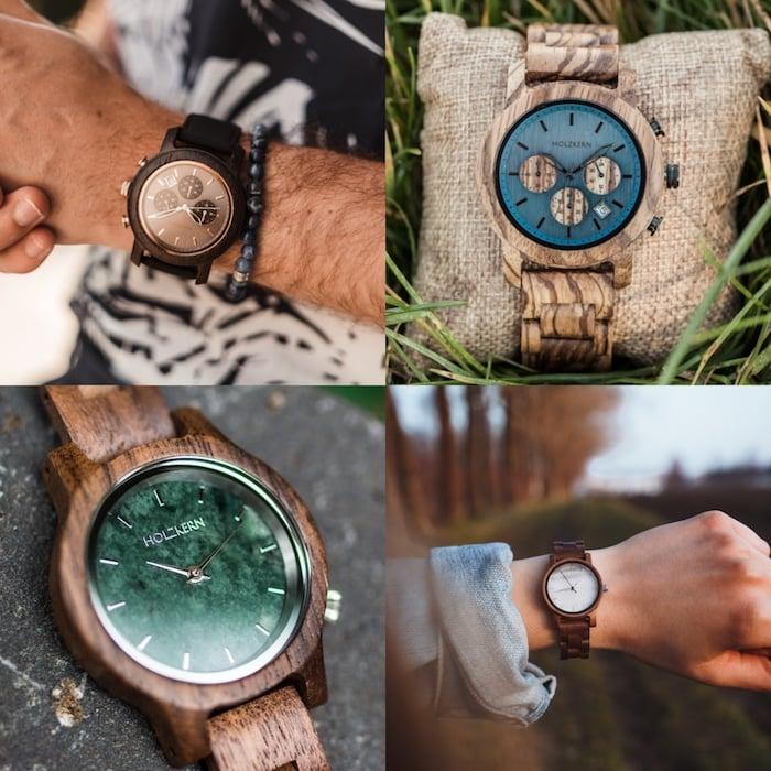 La tendencia de relojes de madera