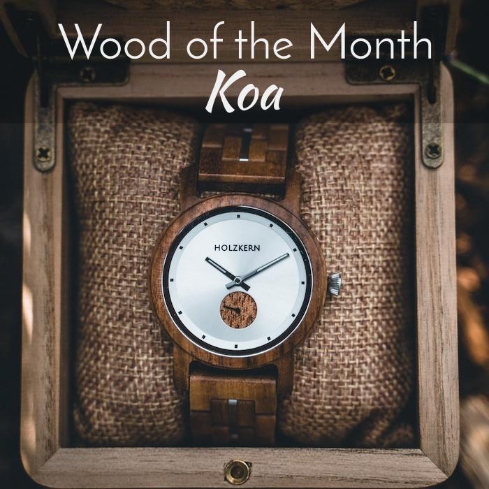Holz des Monats Koa Slider Trends EN