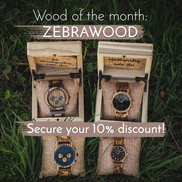 Holz des Monats Zebrano Neuigkeiten Slider EN