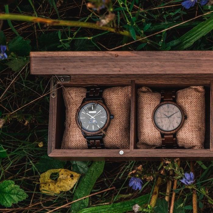 Die Holzkern Sammlerbox aus Walnussholz 3 ES