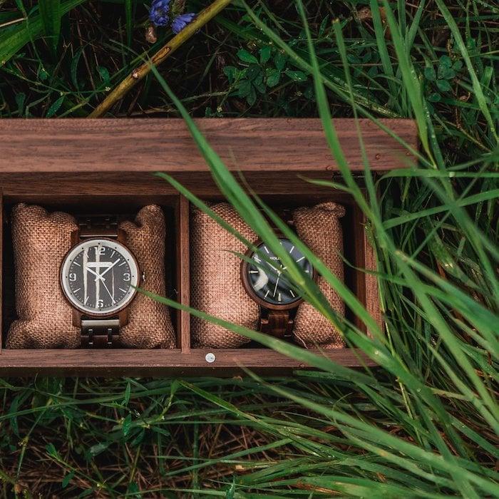 Die Holzkern Sammlerbox aus Walnussholz 4 ES