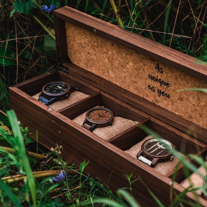 Die Holzkern Sammlerbox aus Walnussholz 5 ES