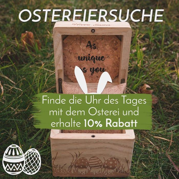 Die Holzkern Ostereiersuche
