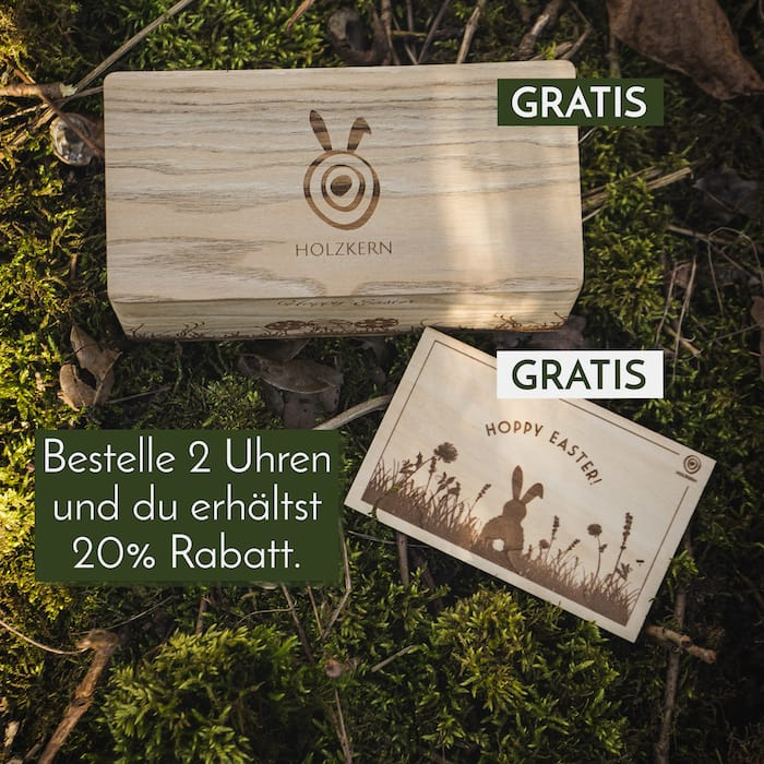 Das Holzkern Osternest