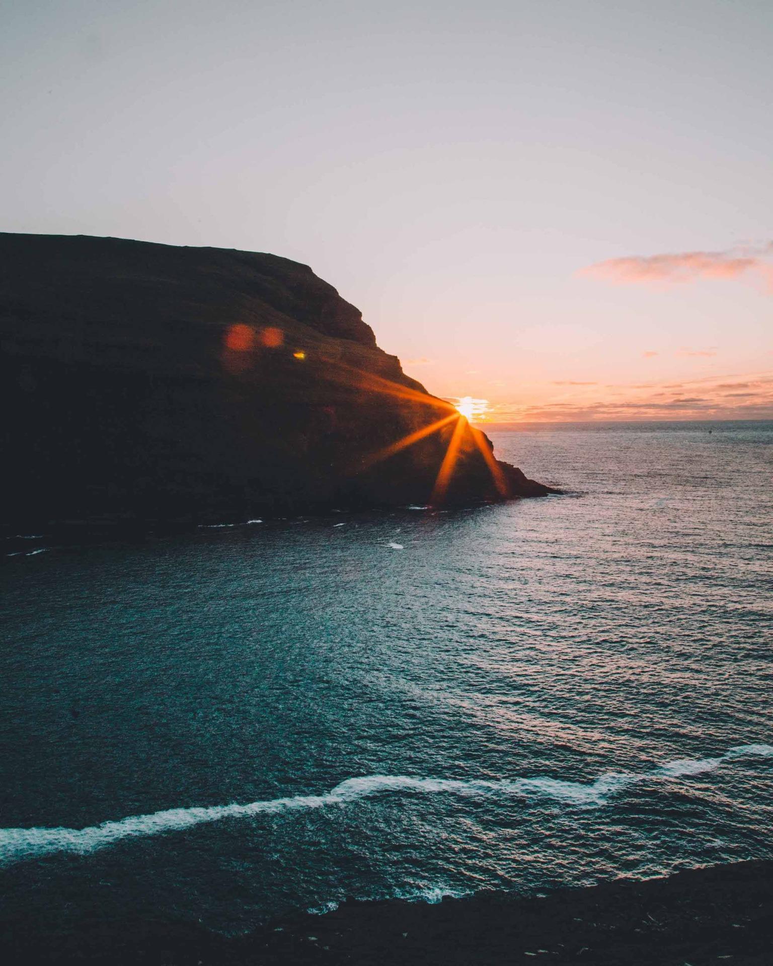 Färöer Sonnenuntergang