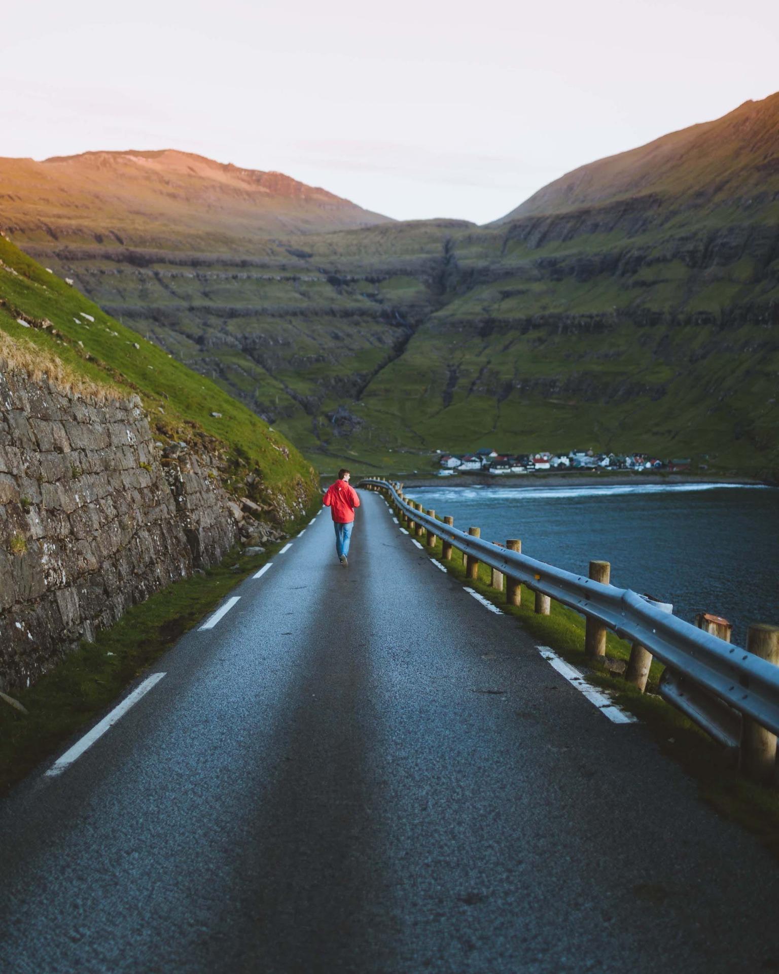 Straße Färör Inseln