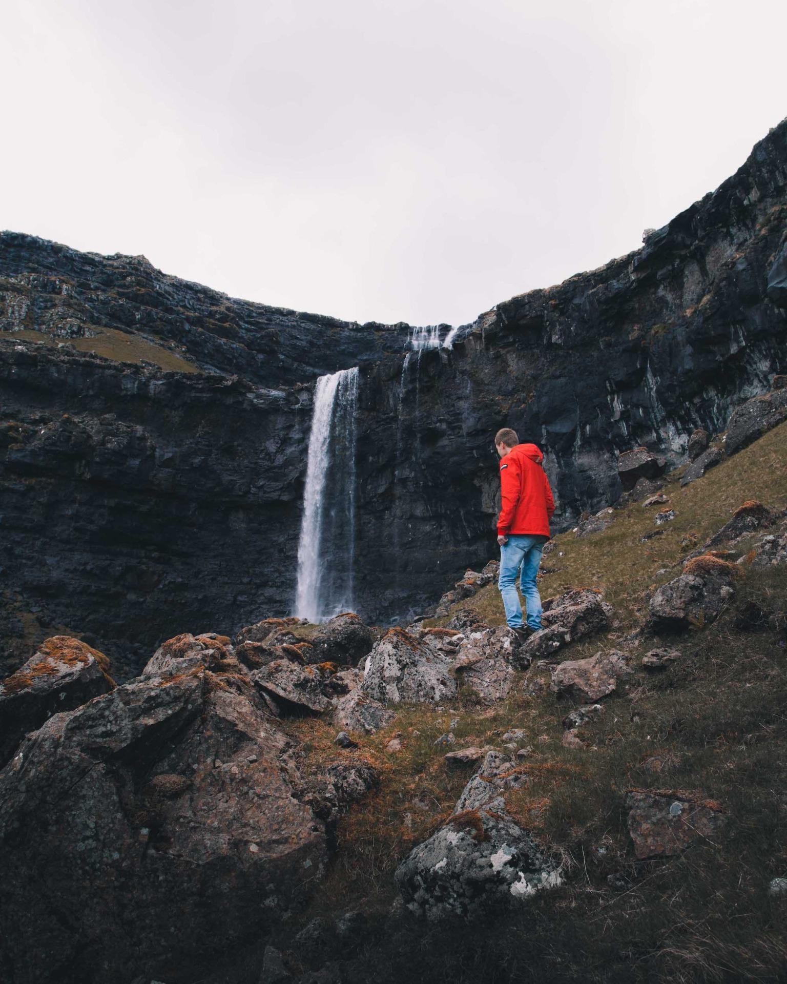 Färöer Wasserfall