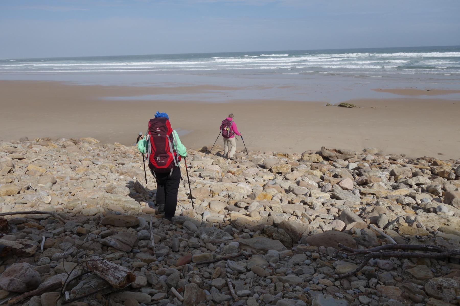 Wanderer am Strand