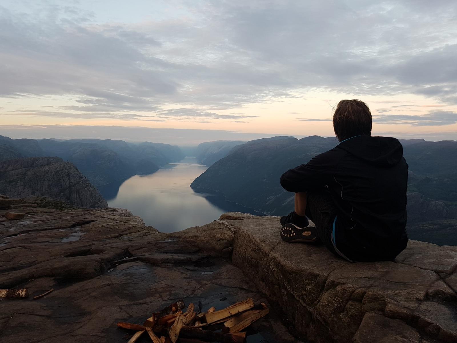 Norwegen Wanderer