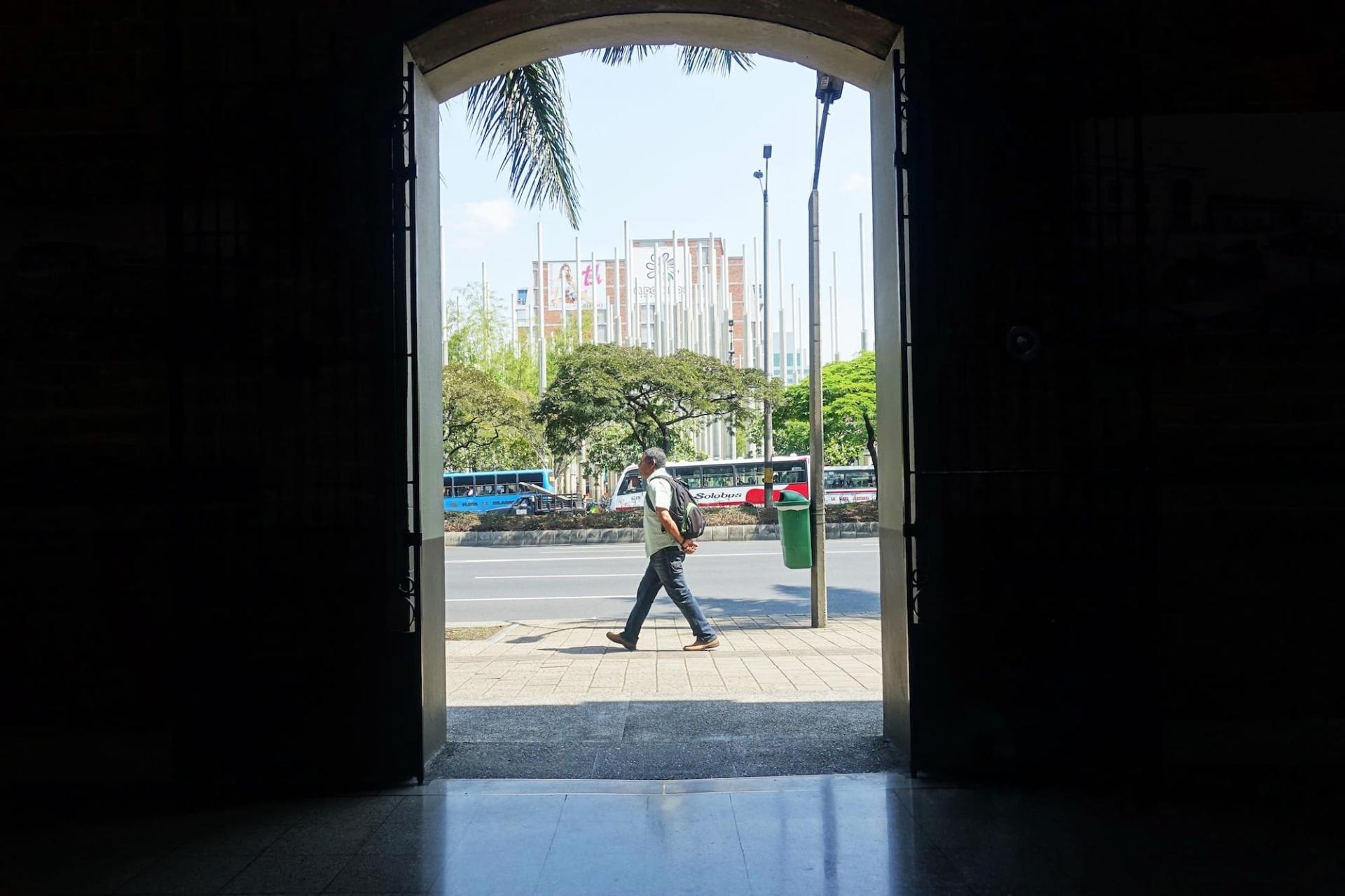Medellin Fußgänger