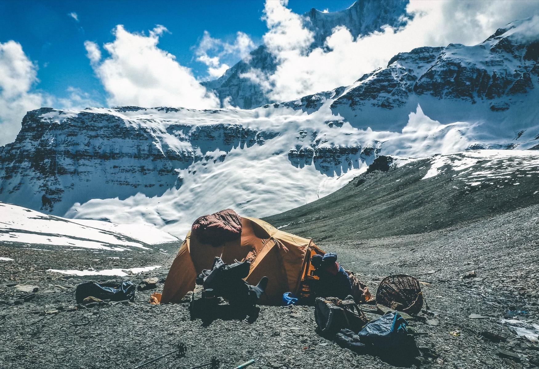Zelt im Himalaya