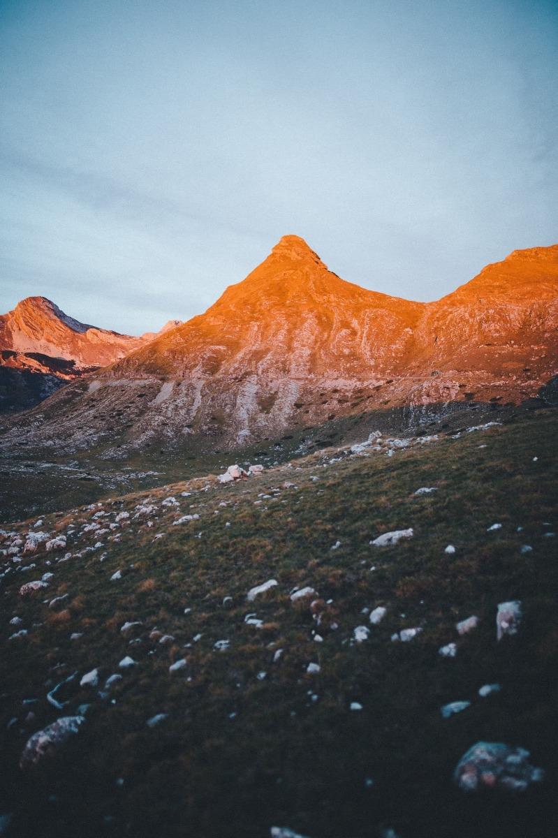 Durmitor Alpenglühen