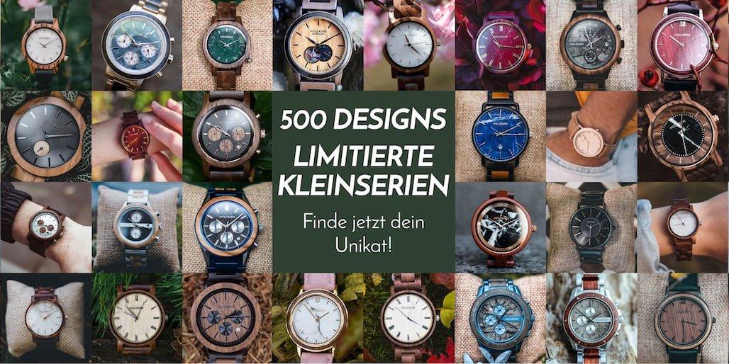 Über 500 enzigartige Holzkern Designs
