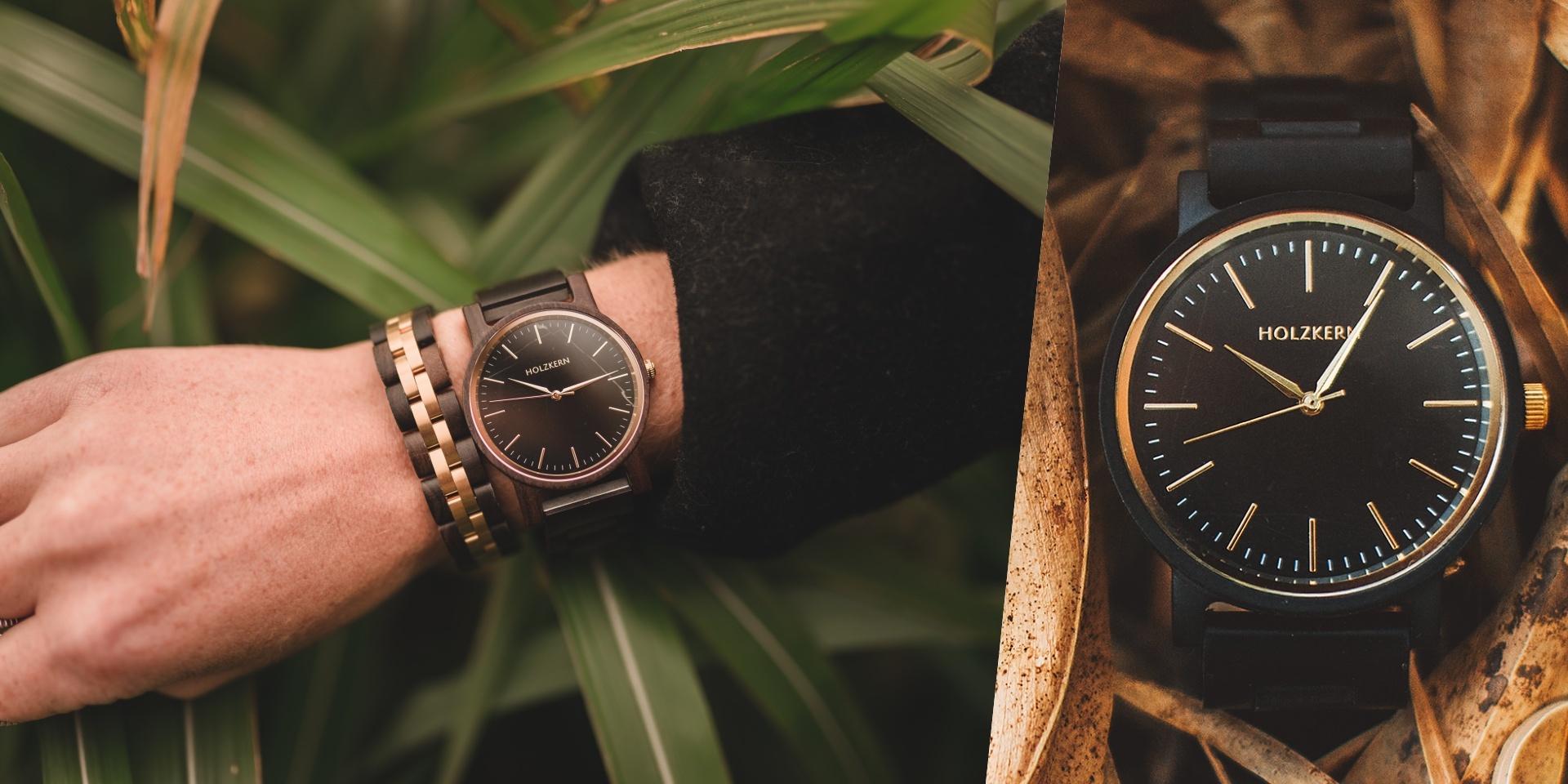 Holzkernuhr Sommernacht mit Armband Menuett