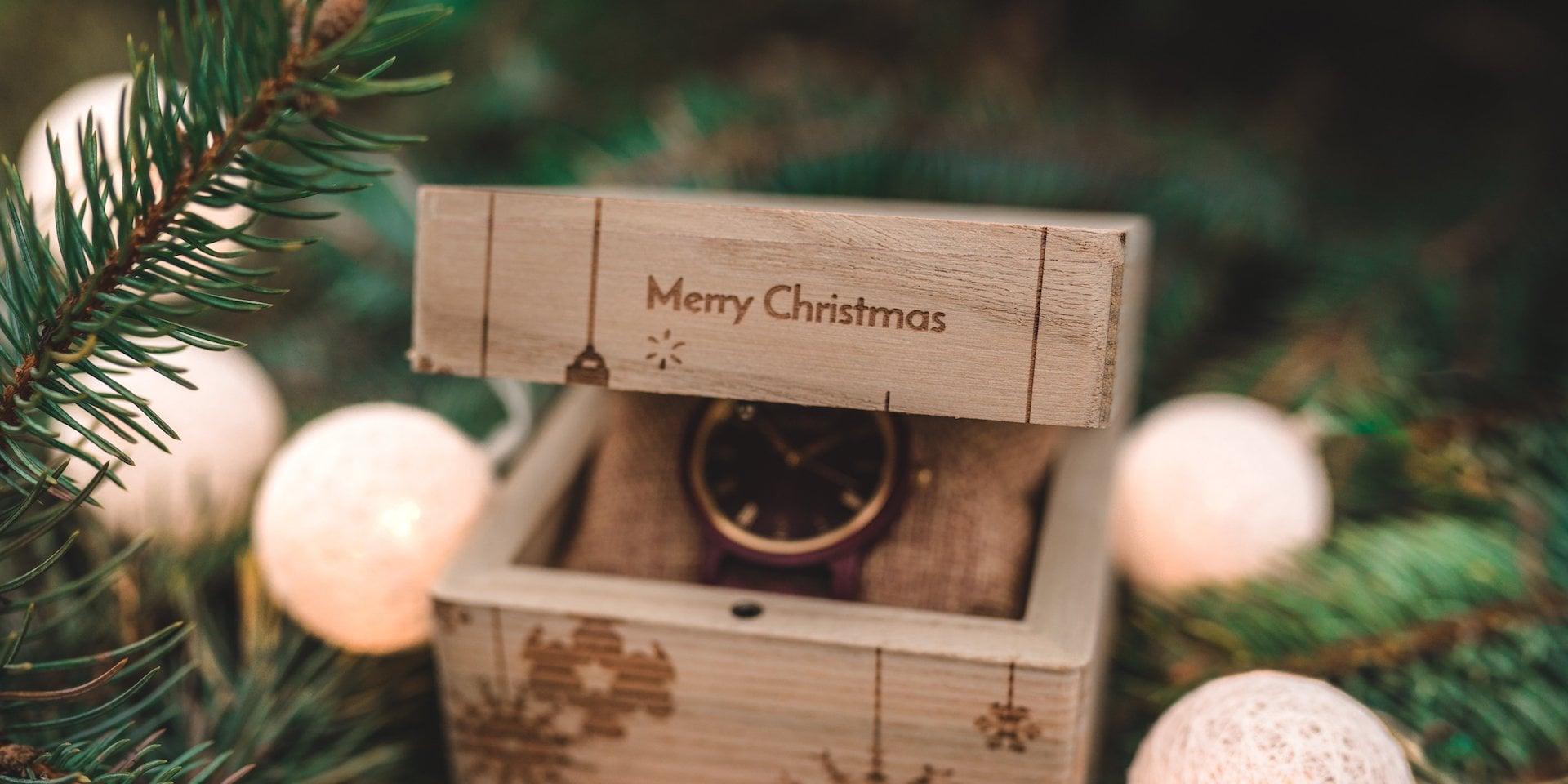 Holzkern Weihnachtsbox Einzelbox