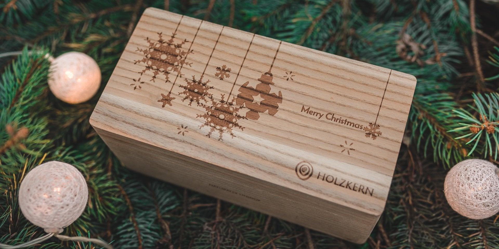 Holzkern Weihnachtsbox Doppelbox
