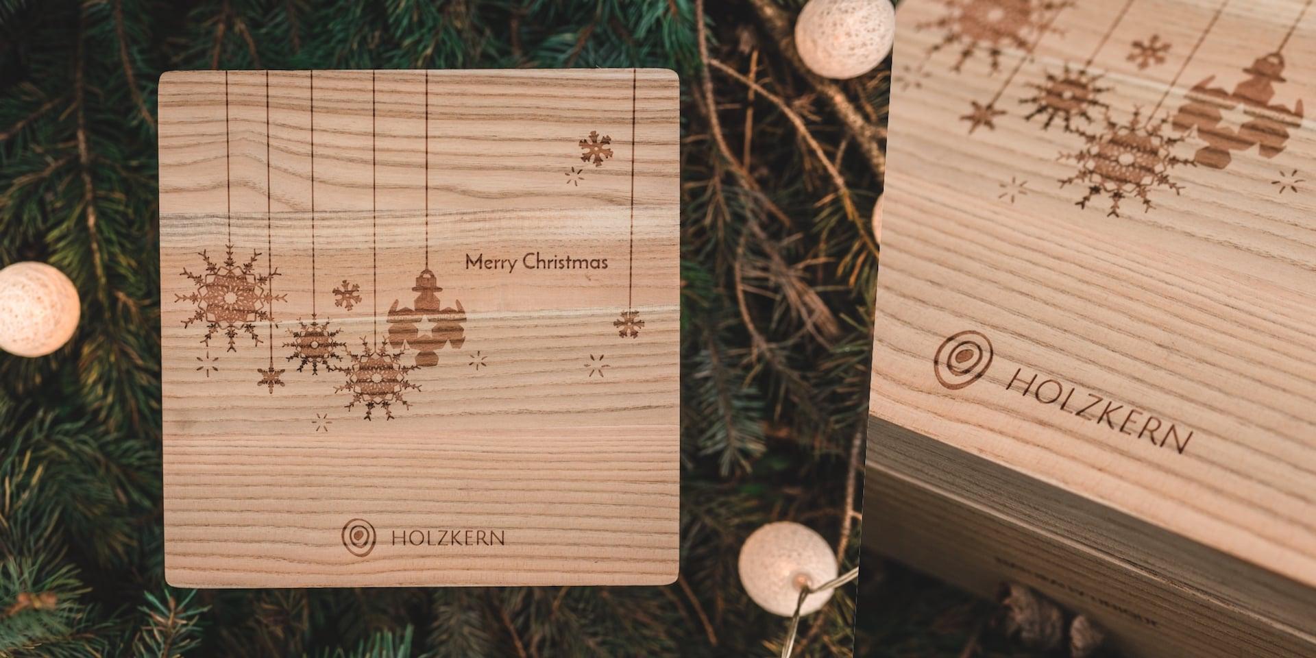 Holzkern Weihnachtsbox Viererbox