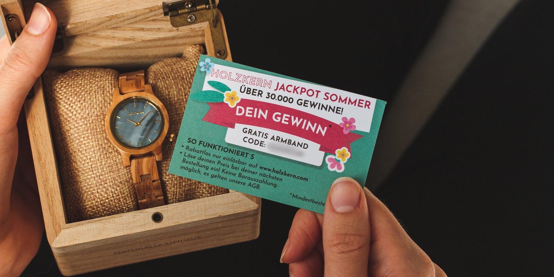 Holzkern Jackpot Sommer Los