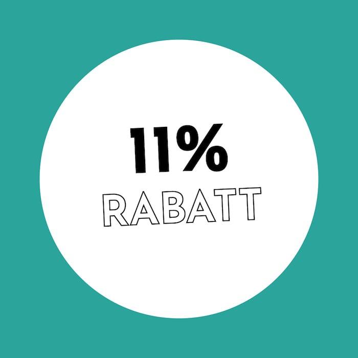 11% Rabatt Holzkern