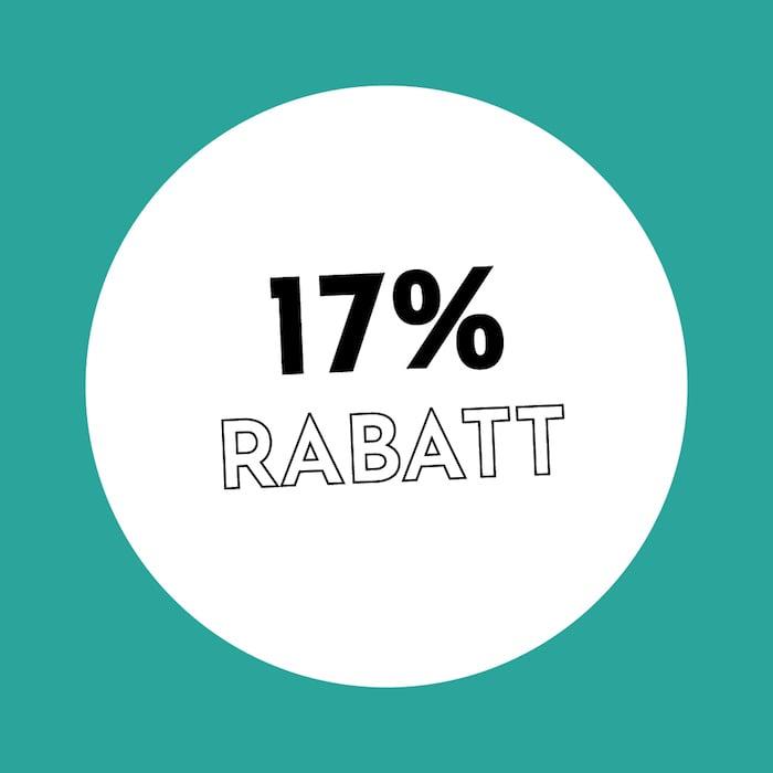 17% Rabatt Holzkern