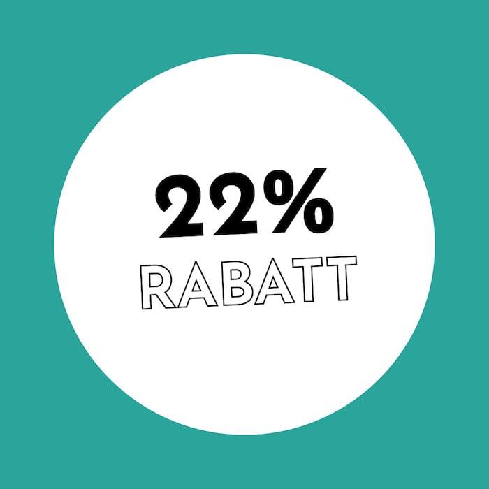 22% Rabatt Holzkern