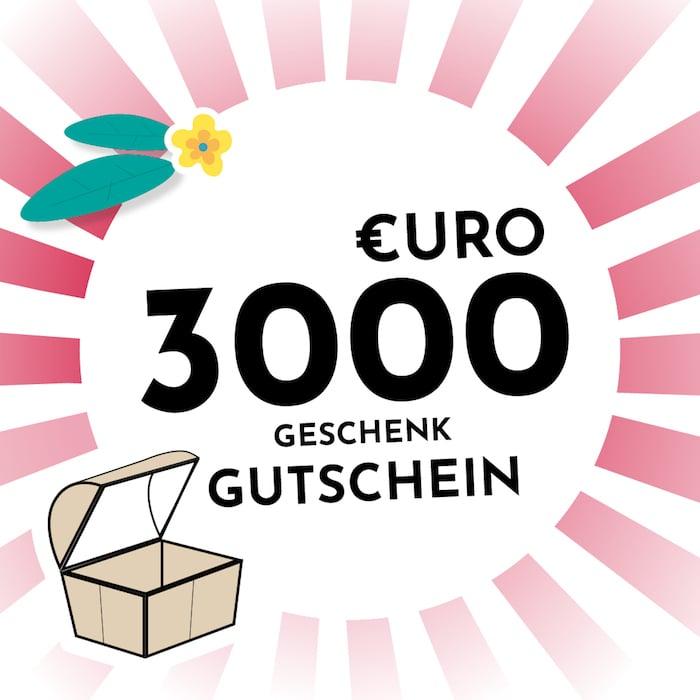 3000 € Gutschein