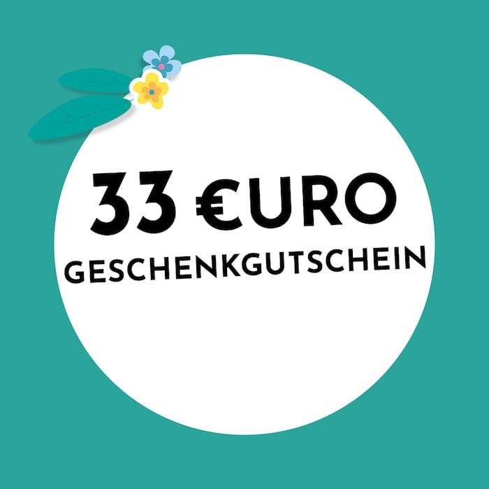 33€ Geschenkgutschein Holzkern