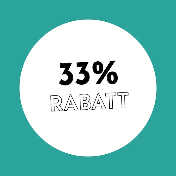 33% Rabatt Holzkern