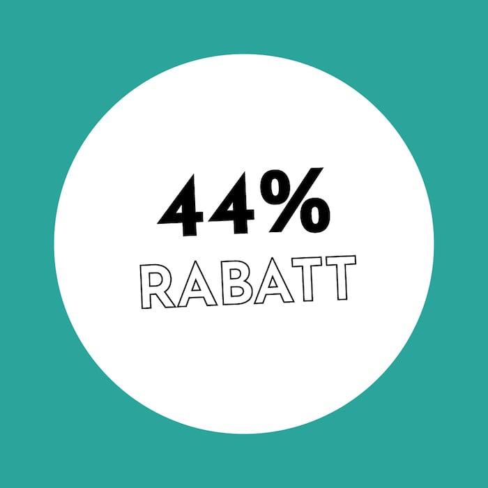 44% Rabatt Holzkern