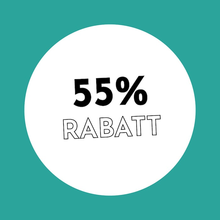 55% Rabatt Holzkern