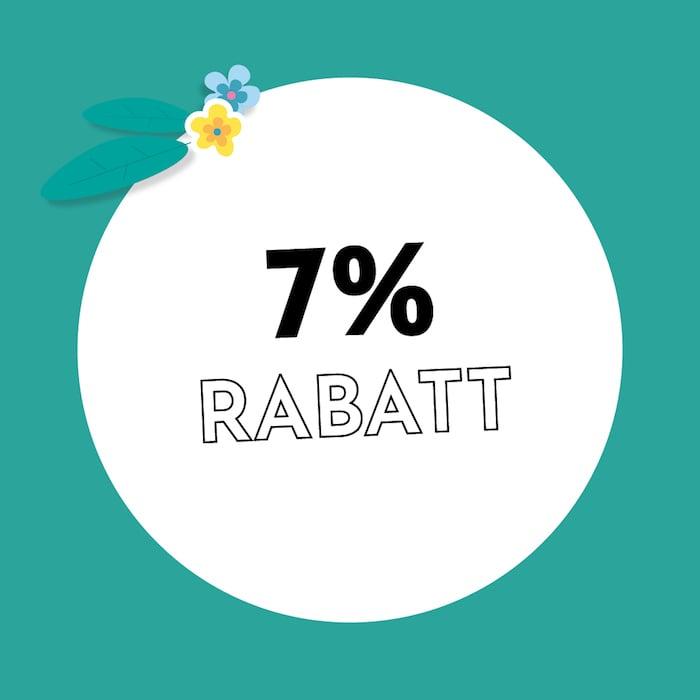 7% Rabatt Holzkern