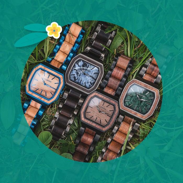 4 absolut einzigartige Holzkernuhren