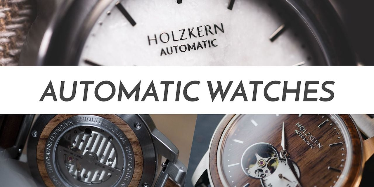 Holzkern's automatic wood & stone watches