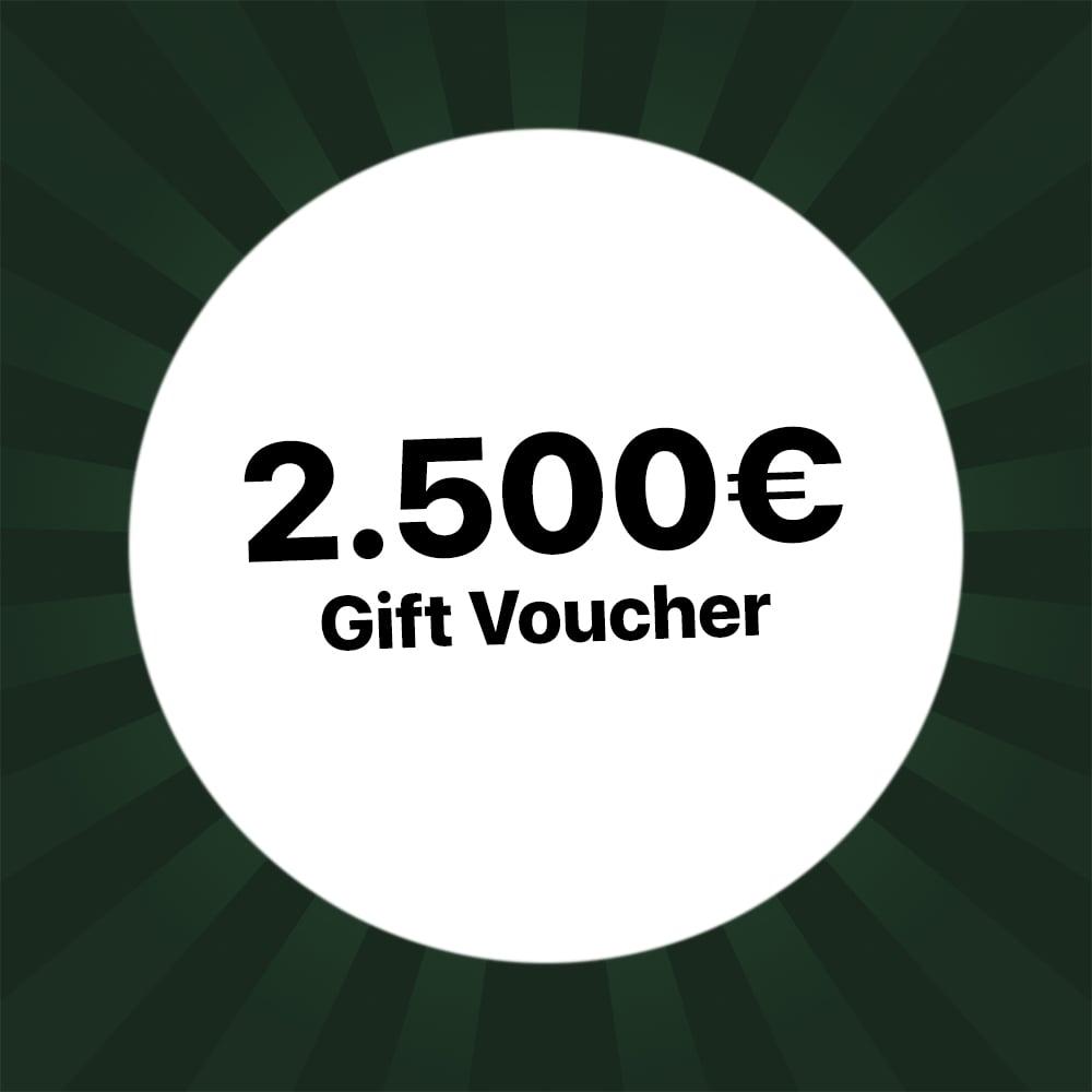 2500€ Holzkern gift voucher